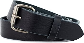 314a900640a Naleeni Mens Black Leather Belt Soft W Buckle Options. Made in USA 1.5 In  Wide