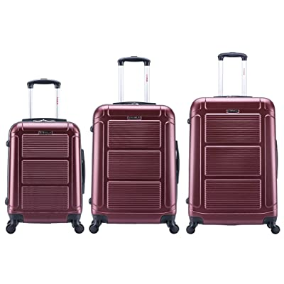 InUSA Luggage Pilot Lightweight Hardside Spinner, 3 Count