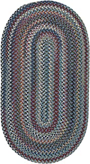 """product image for Capel Bunker Hill Medium Blue 11' 4"""" x 14' 4"""" Oval Braided Rug"""