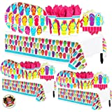 92b90f547 Another Dream Flip Flop Tropical Luau Hawaiian Summer on the Beach MEGA  Deluxe 238 Piece Party
