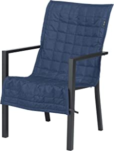 Classic Accessories Montlake Water-Resistant 45 Inch Patio Chair Slipcover, Heather Indigo