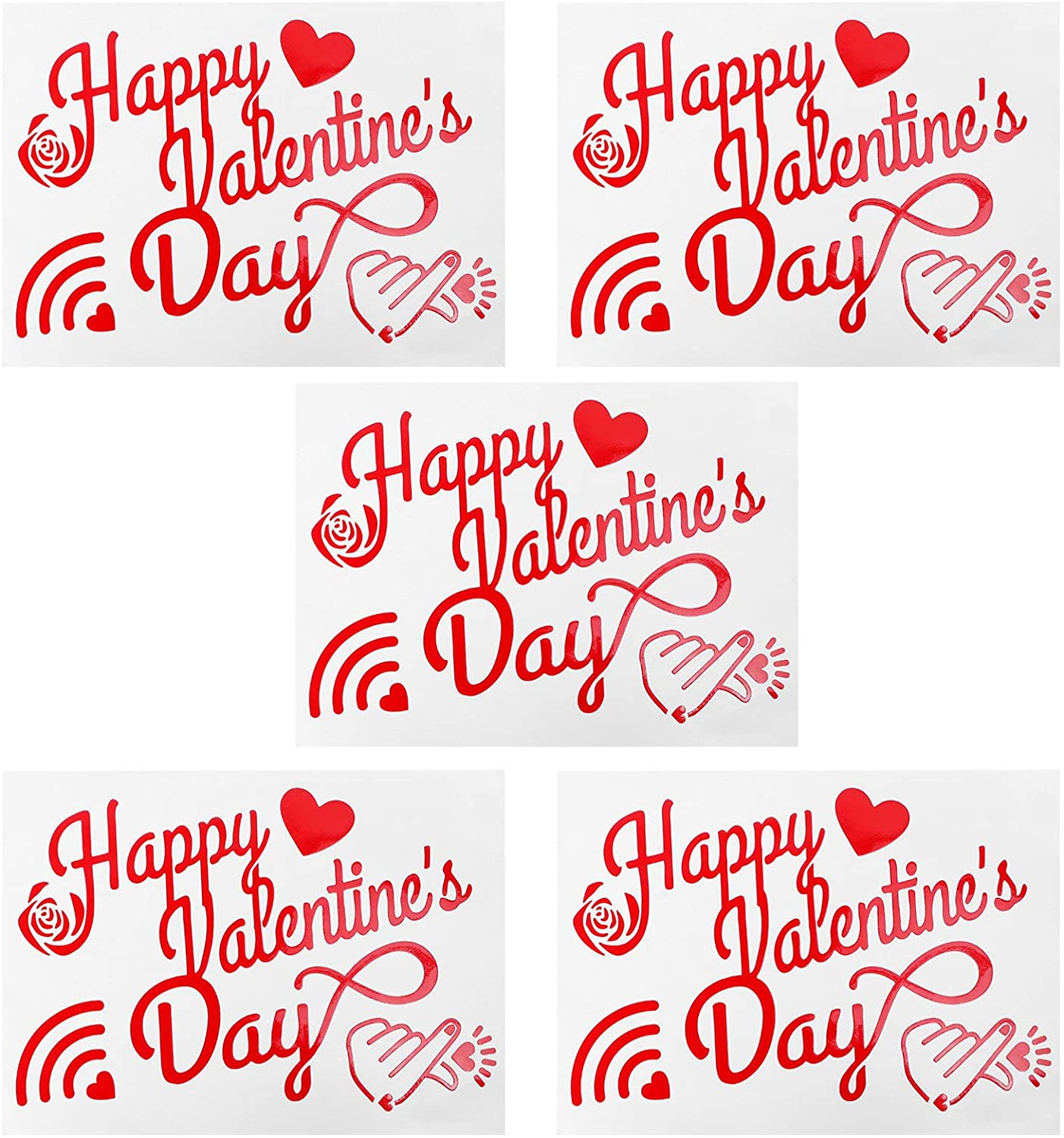Happy Valentines Day KESYOO 5pcs Valentines Day Heart Stickers Letters Balloon Stickers Bobo Balloons Stickers Valentines Decorative Party Balloon Decals