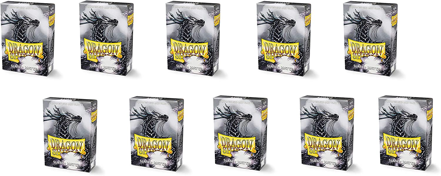 Dragon Shield 10 Packs Matte Mini Japanese 60 ct Card Sleeves Display Case