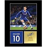 My Prints Eden Hazard Signed Mounted Photo Display Chelsea