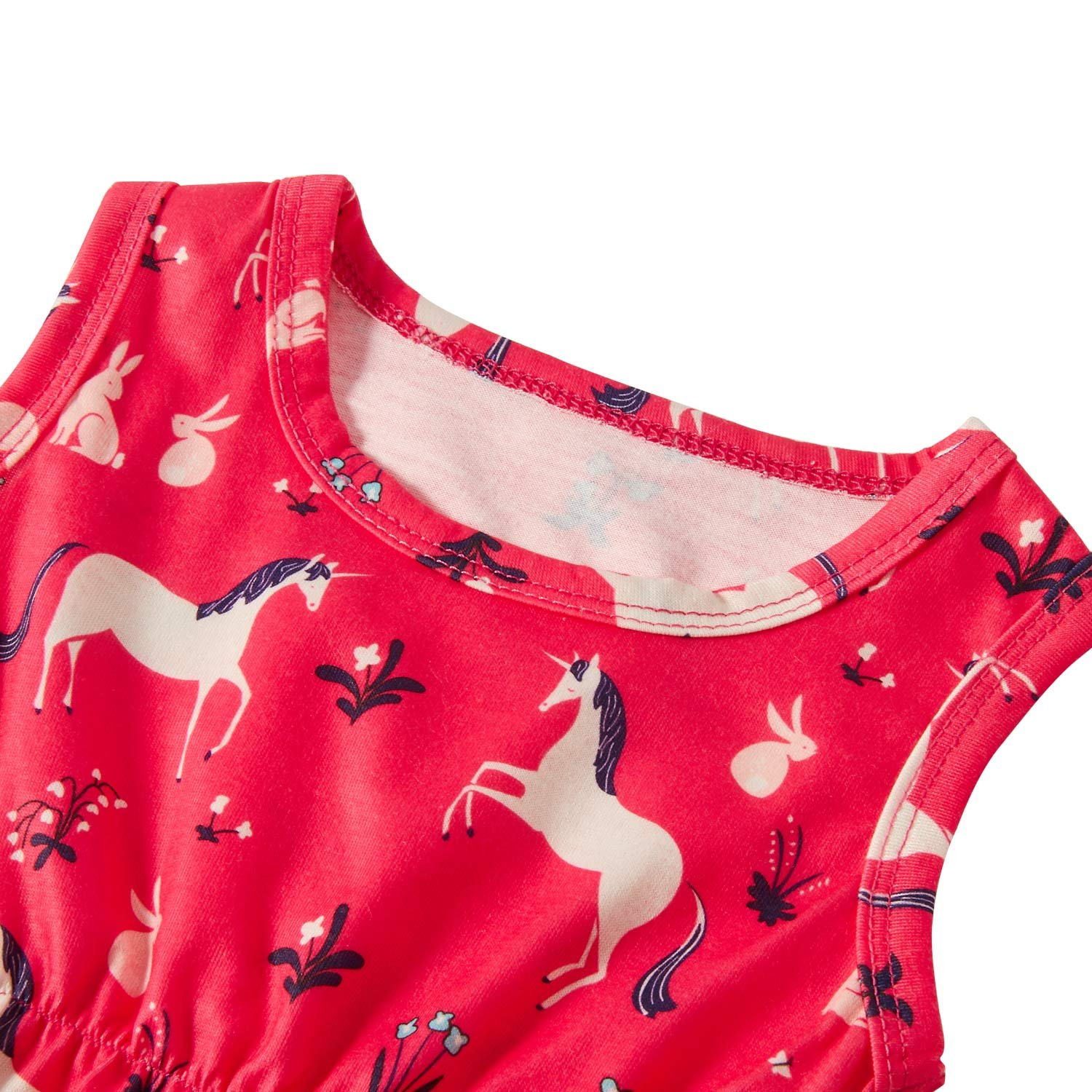 Leapparel Toddler Lovely Plant and Animal Print Jumpsuit Short Sleeve Romper Baby Girl Birthday Outfit Little Kids Clothes with Personal Headbrand,Horse,6-12 Months (Size 90)