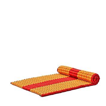 Leewadee XL Colchoneta Thai Enrollable Ancha Colchón De Invitados Esterilla De Yoga Futon Masaje Thai Colchoneta De Dormir Orgánico Naturalmente ...