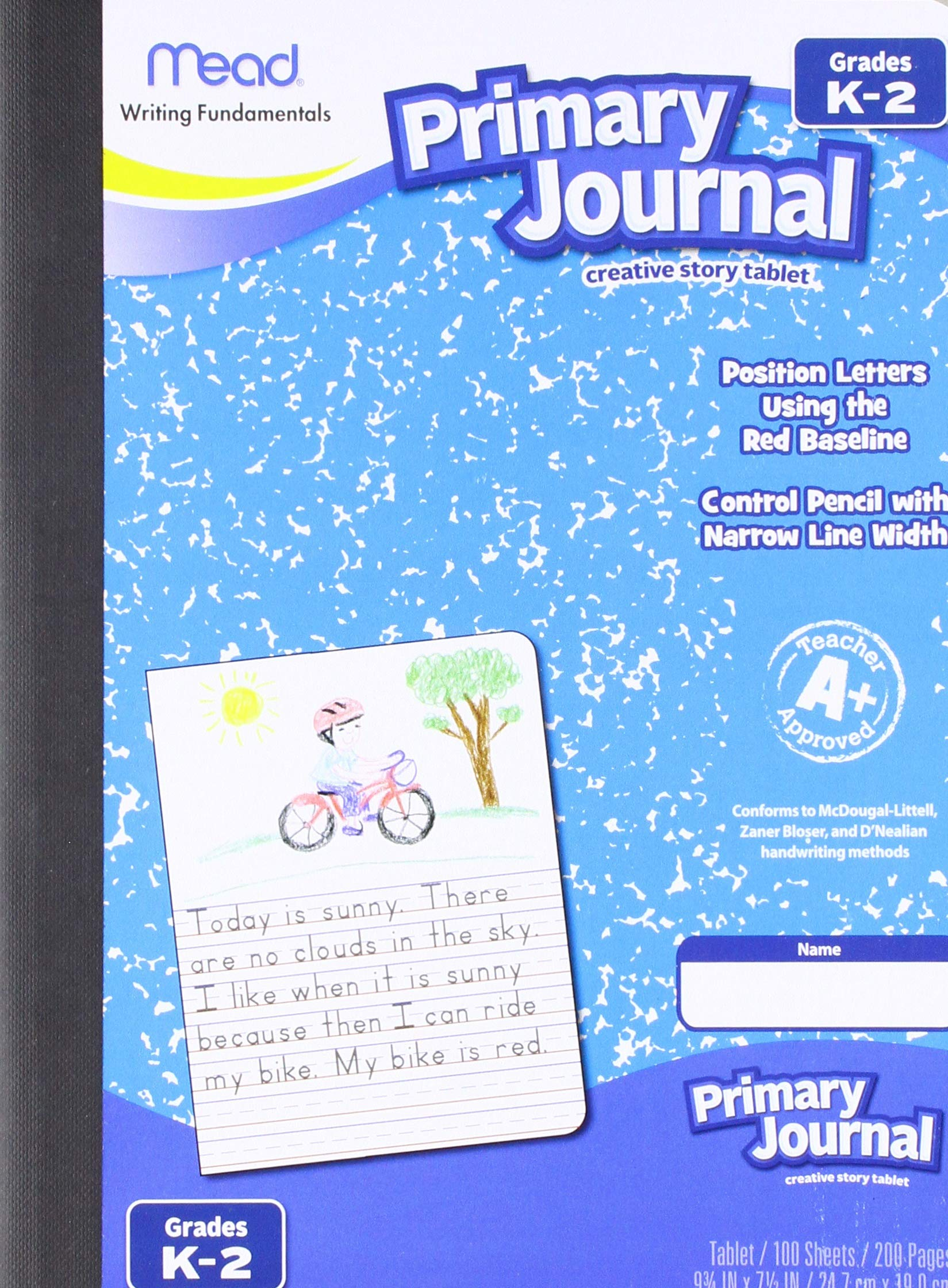 Mead Gr K-2 Classroom Primary Journal Story Tablet - 100 Sheets - 7 1/2'' x 9 4/5'' - Assorted Cover - 12/Carton (09554CT)