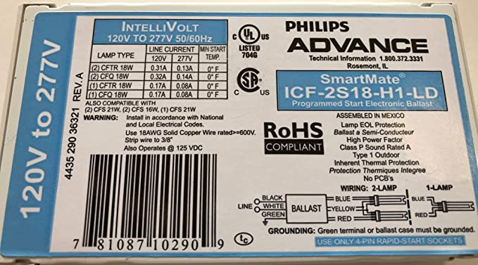 ICF-2S13-H1-LD Philips ADVANCE SmartMate Electronic Compact BRAND NEW!