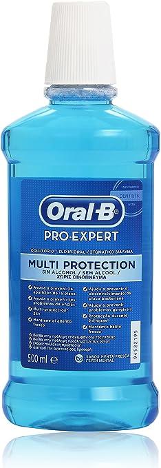 ORAL B Colutorio Pro-Expert Multiprotección 500ml: Amazon.es ...