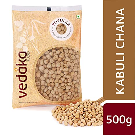 Amazon Brand - Vedaka Popular Kabuli Chana / Chhole, 500g