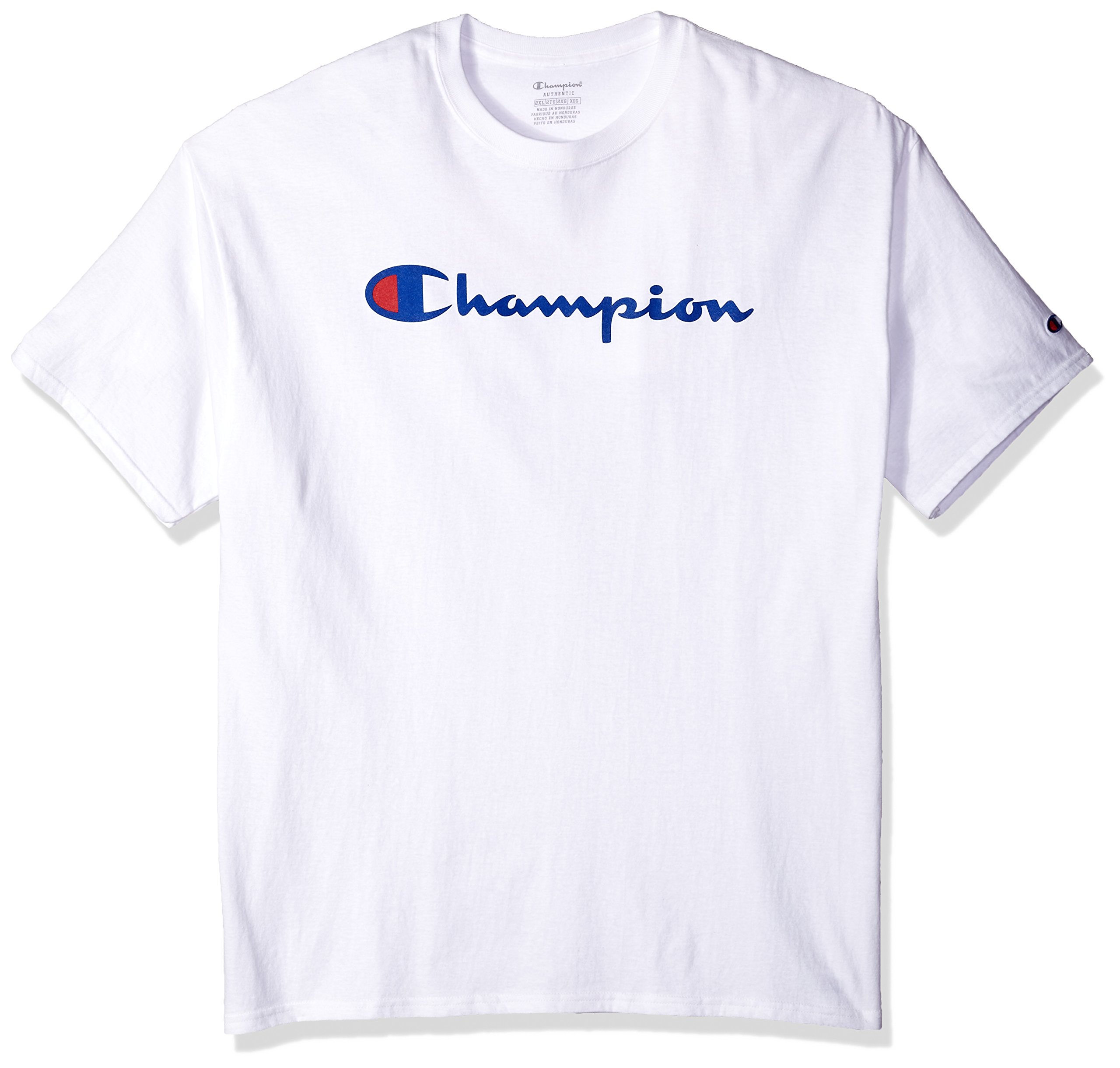 Champion Men's Classic Jersey Script T-Shirt, White L