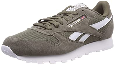 3683a03e525 Reebok Men s Classic Leather Mu Low-Top Sneakers Essentials-Terrain  Grey White 0