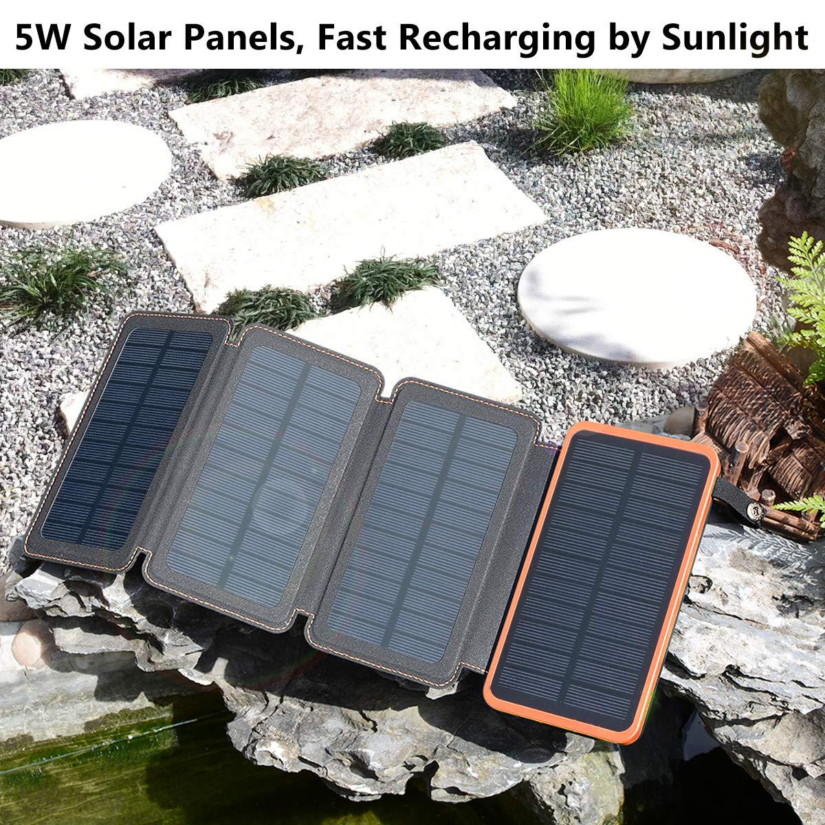 Powerbank Solar 25000mah Con 4 Paneles Carga Dual Xsr