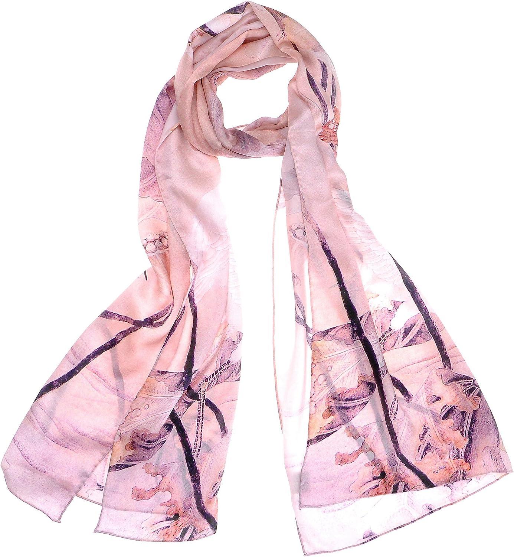Women's Long Silk Scarf...