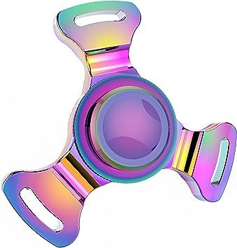 Fidget Spinner Gehoiya Fidget Hand Spinner Color Iris latón silencioso Juguete Anti Ansiedad para EDC, ADHD,Niños y Jóvenes Adultos Alta Velocidad 6-8 Minutos por Giros: Amazon.es: Juguetes y juegos