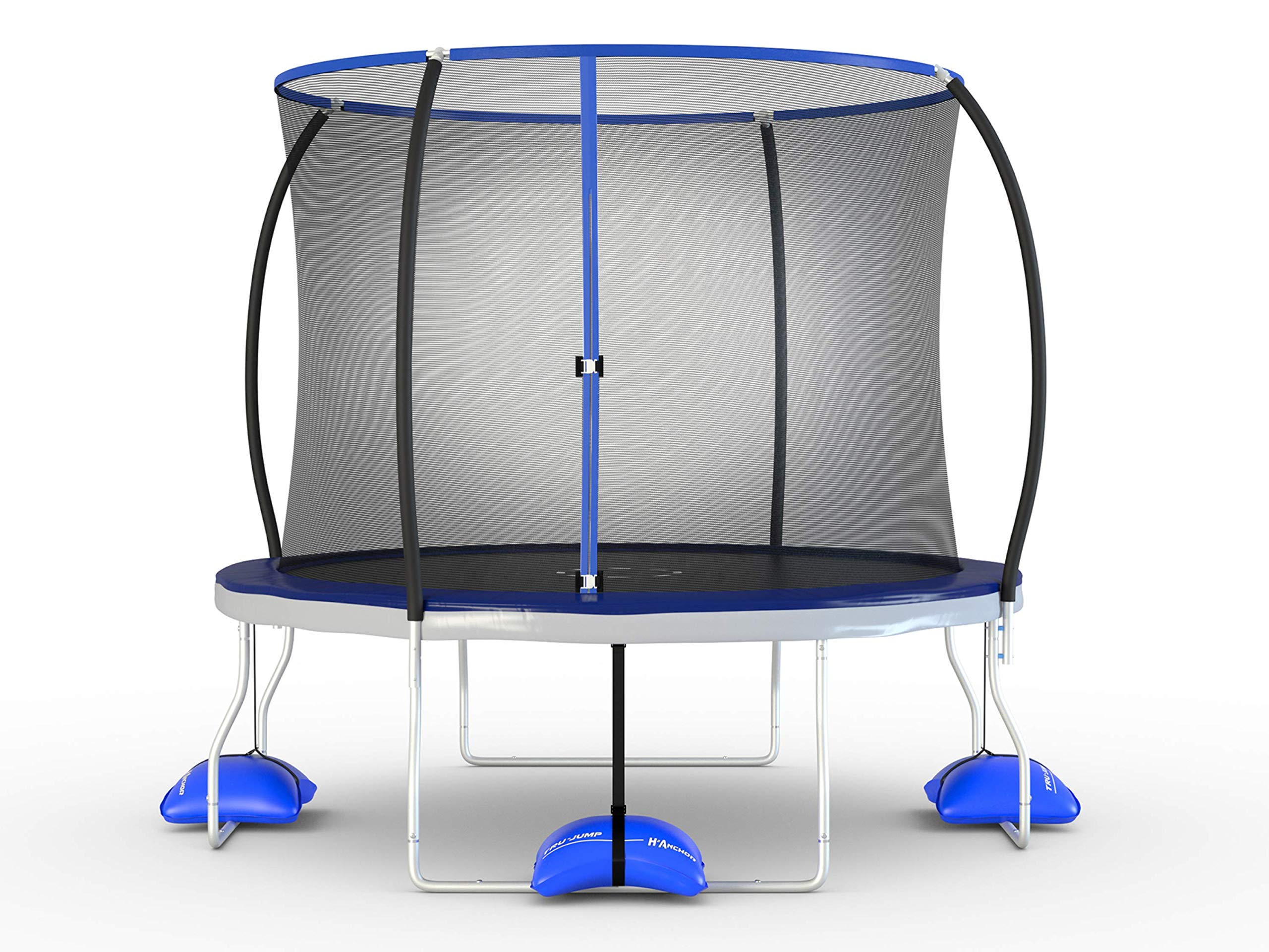 TruJump 10 Foot Outdoor Trampoline with Steel Enclosure Ring