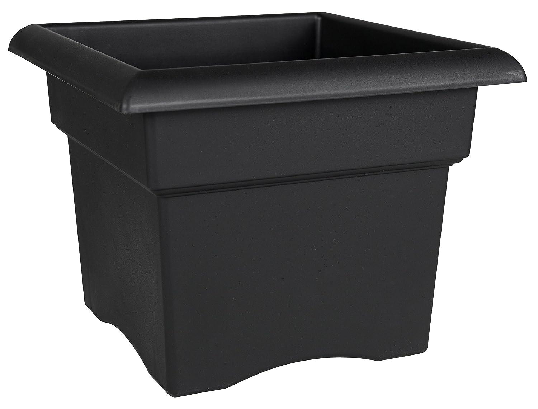 Bloem Fiskars 18 Inch Veranda 5 Gallon Box Planter, Black (57918), 18-Inch
