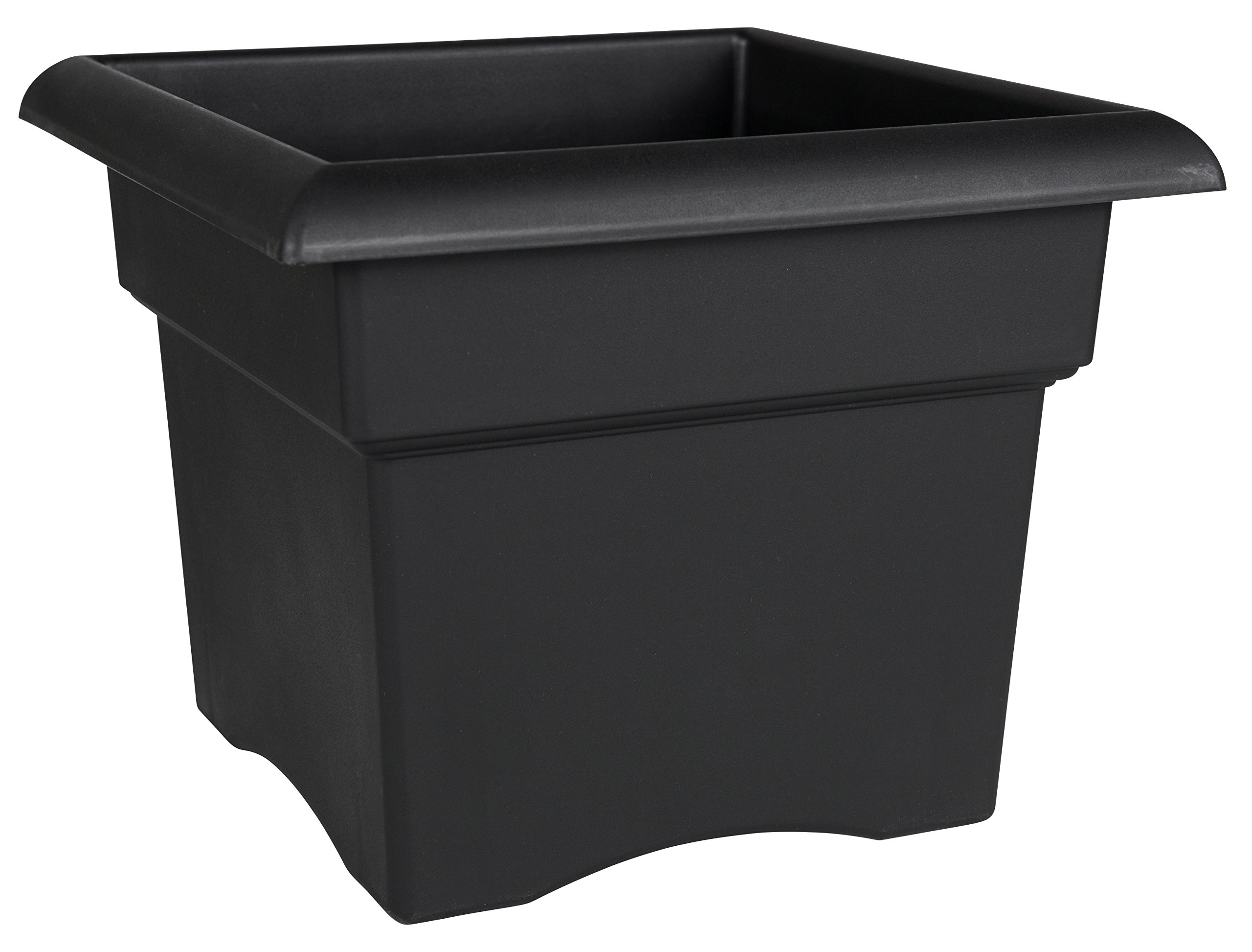 Fiskars 18 Inch Veranda 5 Gallon Box Planter, Black (57918) by Bloem