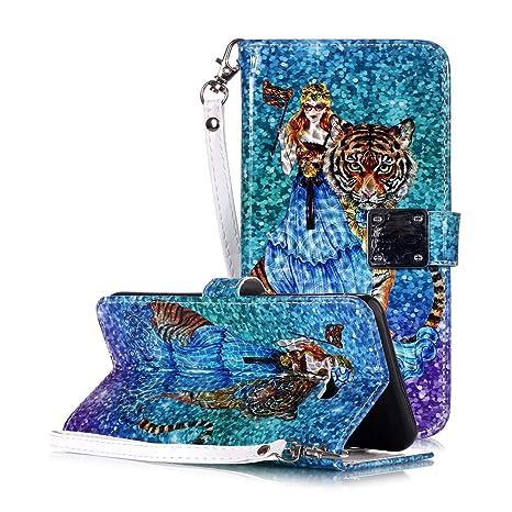 WIWJ Funda Samsung Galaxy J4 Plus Carcasa 3D Espejo Disney PU Piel ...