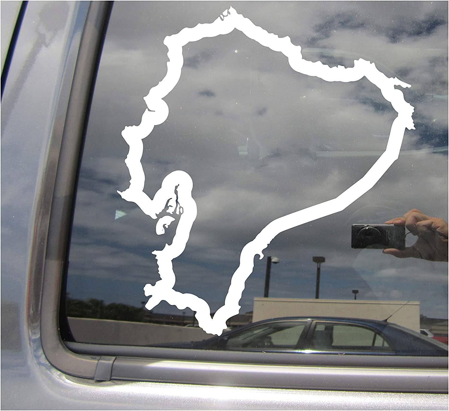 United States Outline Decal Window Bumper Sticker Car Decor America Country