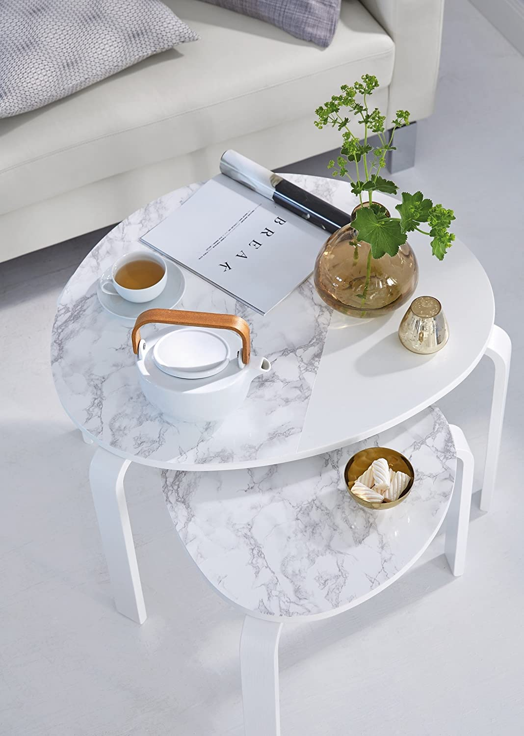 Light grey marble contact paper