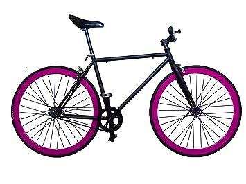 Wizard Industry Helliot Soho 5310 - Bicicleta Fixie, Cuadro de Acero, Frenos V-