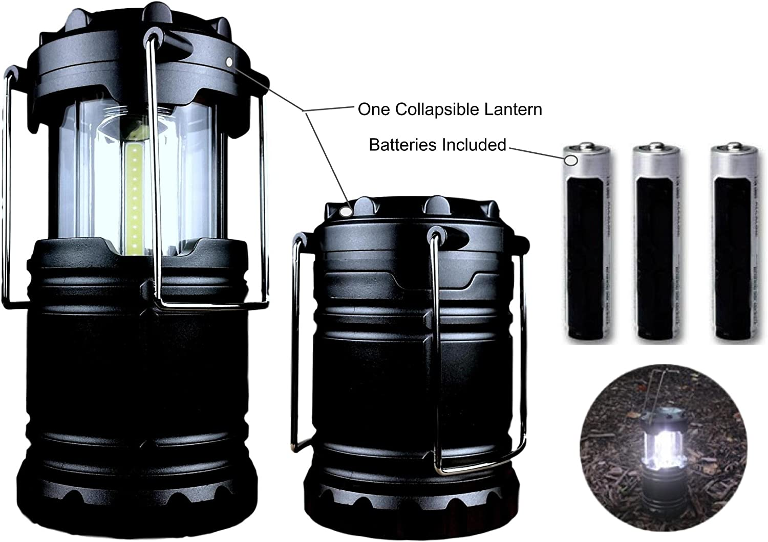 JOEY Z Camping Lantern Military Tactical Light Lantern Collapsible Ultra Bright Portable Hanging LED Torch Batteries Included