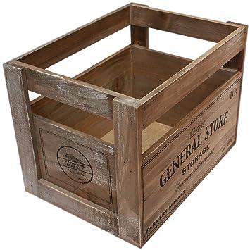 Wooden Old Spitalfields Market Vintage Style Design  Wine Crate Box Storage