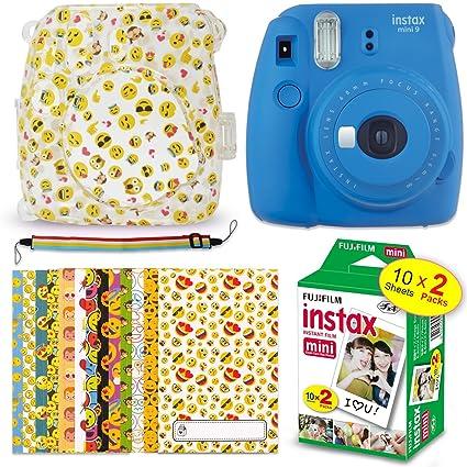 Amazoncom Fujifilm Instax Mini 9 Instant Camera Cobalt Blue