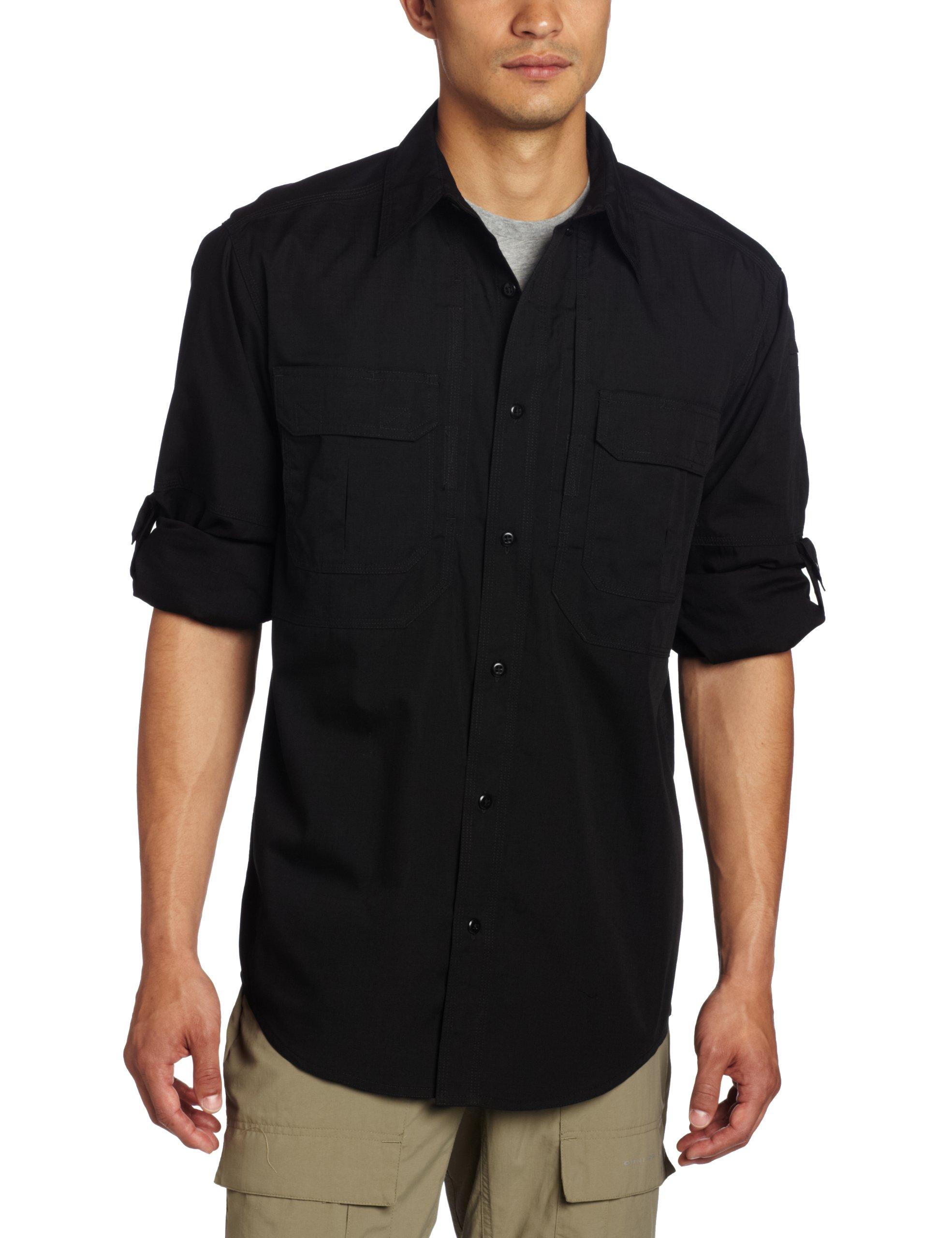 5.11 Tactical TacLite Professional Long Sleeve Shirt, Black, Medium