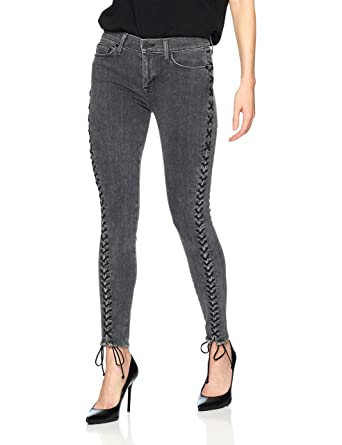 d694f5abea8 Hudson Jeans Women's The The Stevie Midrise Cont Lace Up Skinny 5 Pocket  Jean at Amazon Women's Jeans store