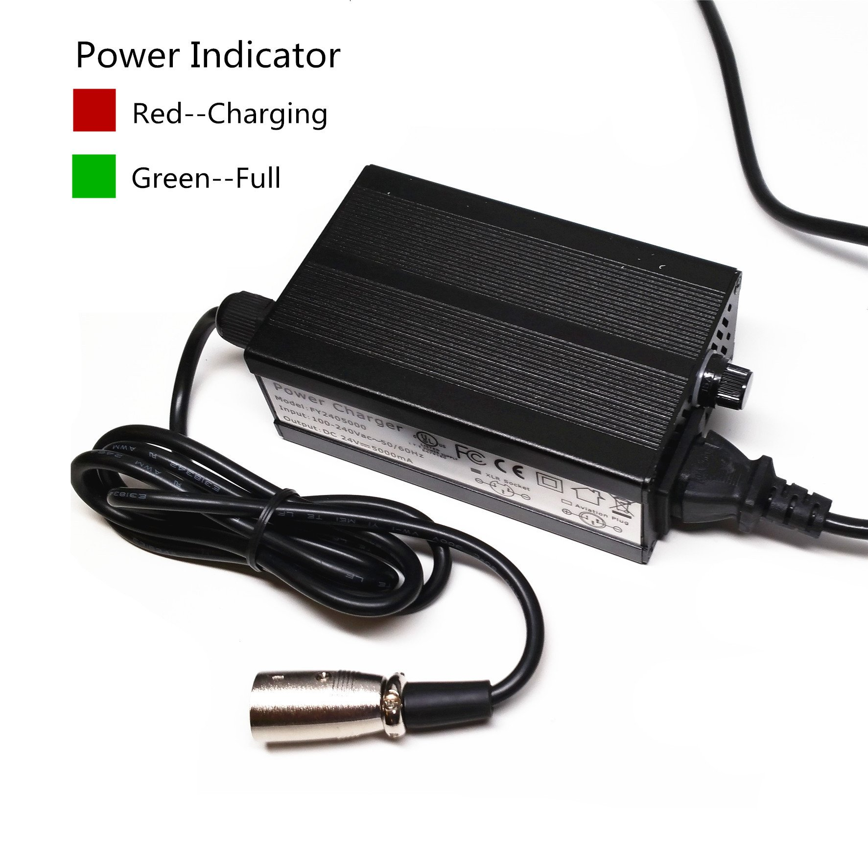 EPtech 24V 5A Battery Charger For Heartway Allure (HP6) / Allure R (HP6R) / Allure RT (HP6RT) / Allure S (HP6S) / Aviator (S8) / Bolero (PF2) / Bolero S (PF2S) / Escape (HP1) / Escape DX (HP5)