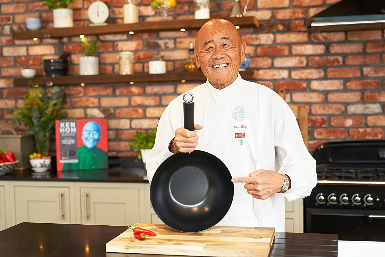 Ken Hom KH427001/wok acciaio al carbonio nero