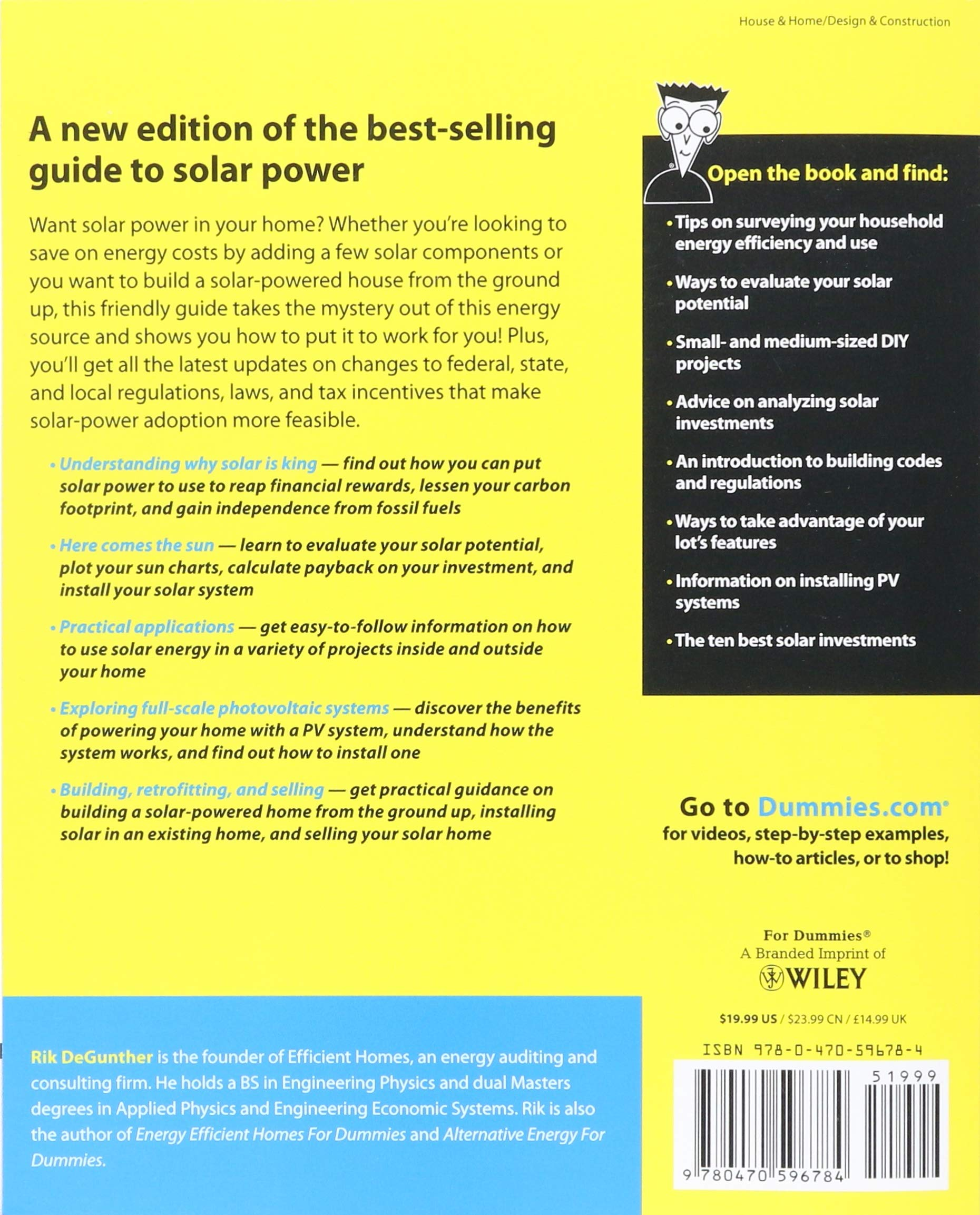 Solar Power Your Home For Dummies Rik Degunther Learn How Electricity Is Delivered To Our 8601400007686 Books
