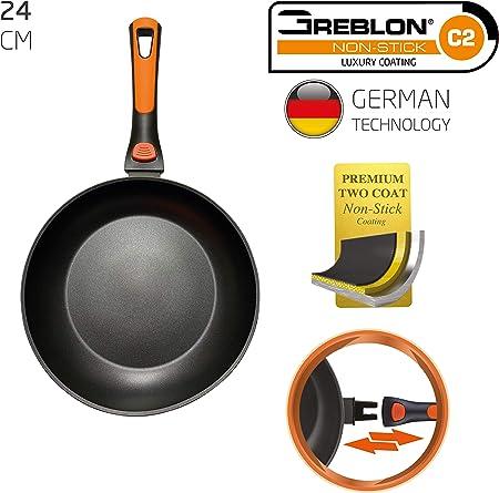BERELA HOME ROCKMAG II Sartén con Mango Desmontable 24 cm de diámetro, Sartén Greblon Antiadherente Eco PFOA Free con tecnología Alemana.: Amazon.es: Hogar