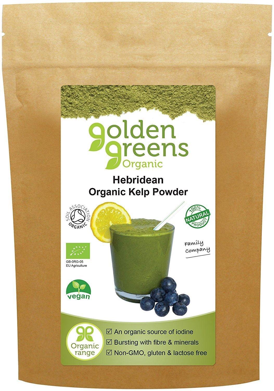 Golden Greens Organic Hebridean Kelp Powder 100g (Pack of 6)