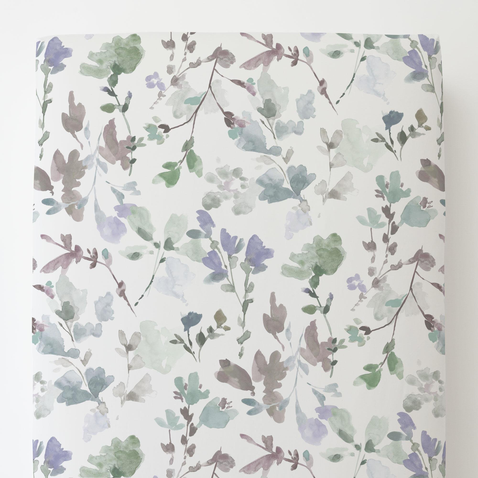Carousel Designs Soft Wildflower Toddler Bed Sheet Fitted