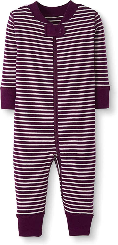 Moon and Back by Hanna Andersson Baby//Toddler 2-Piece Organic Cotton Long Sleeve Stripe Pajama Set Purple Stripe 4T