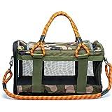 ROVERLUND Pet Travel Bag, Car Seat & Airline Compliant Carrier. 20lbs limit. Includes Bonus Leash. Stylish. Durable…