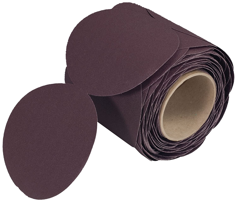 P100 Grit J-Weight Cloth Aluminum Oxide Roll of 100 3M Stikit Cloth Disc Roll 202DZ 5 Diameter PSA Attachment