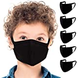 5 Pack Face Mouth Cotton Fabric Cloth Protect Kids Child Children Reusable Breathable Washable Comfortable Safety for…
