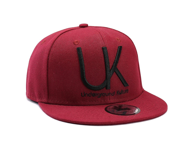 Underground Kulture Burgundy Snapback Baseball Cap  Amazon.co.uk  Kitchen    Home 8a16323788b