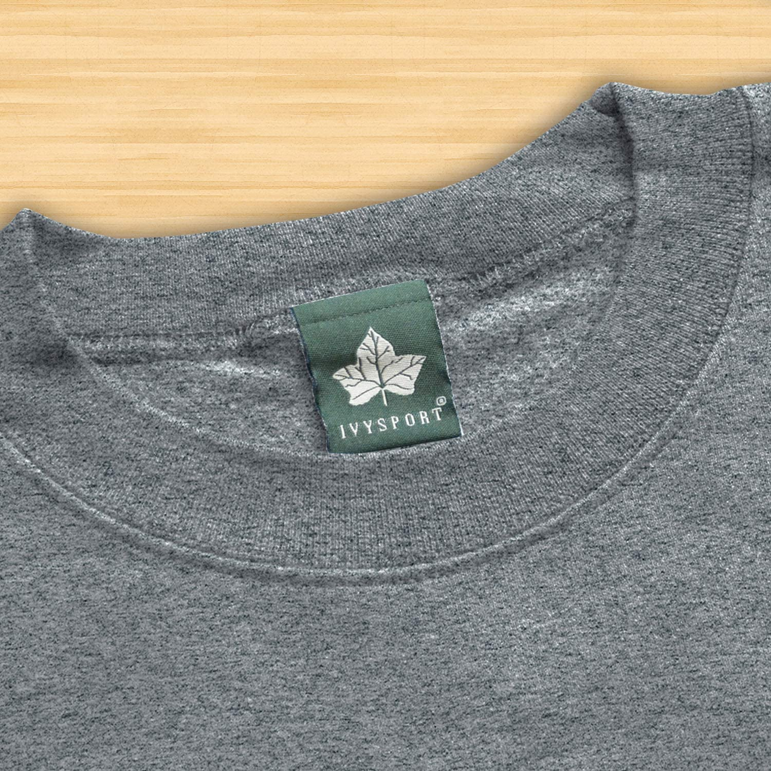 Heritage Logo Grey Cotton//Poly Blend Ivysport Hooded Sweatshirt NCAA Colleges and Universities