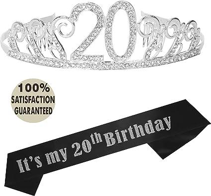 Amazon.com: Kit de decoración de fiesta de 20 cumpleaños ...