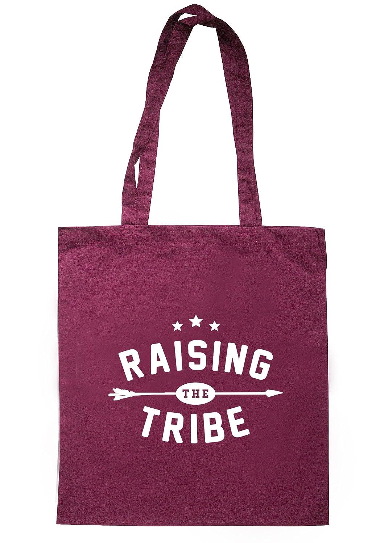 illustratedidentity Raising The Tribe Tote Bag 37.5cm x 42cm with long handles TB0559-TB-NV