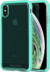 tech21 Evo Check iPhone Case Cover for Apple iPhone Xs Max - Neon Aqua