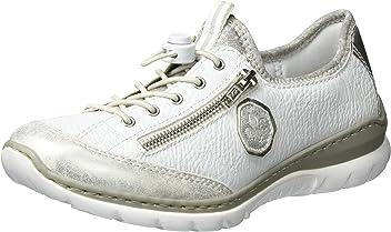 f53da5578849 Rieker womens Slipper ice white argento silverflower