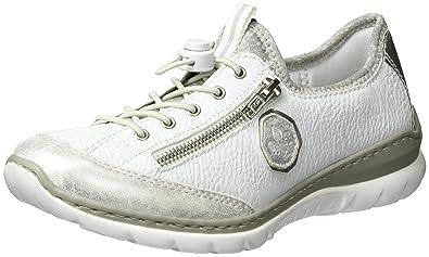 Rieker L3263, Baskets Basses Femme, Blanc (Ice Weiss Argento silverflower 61744b219150