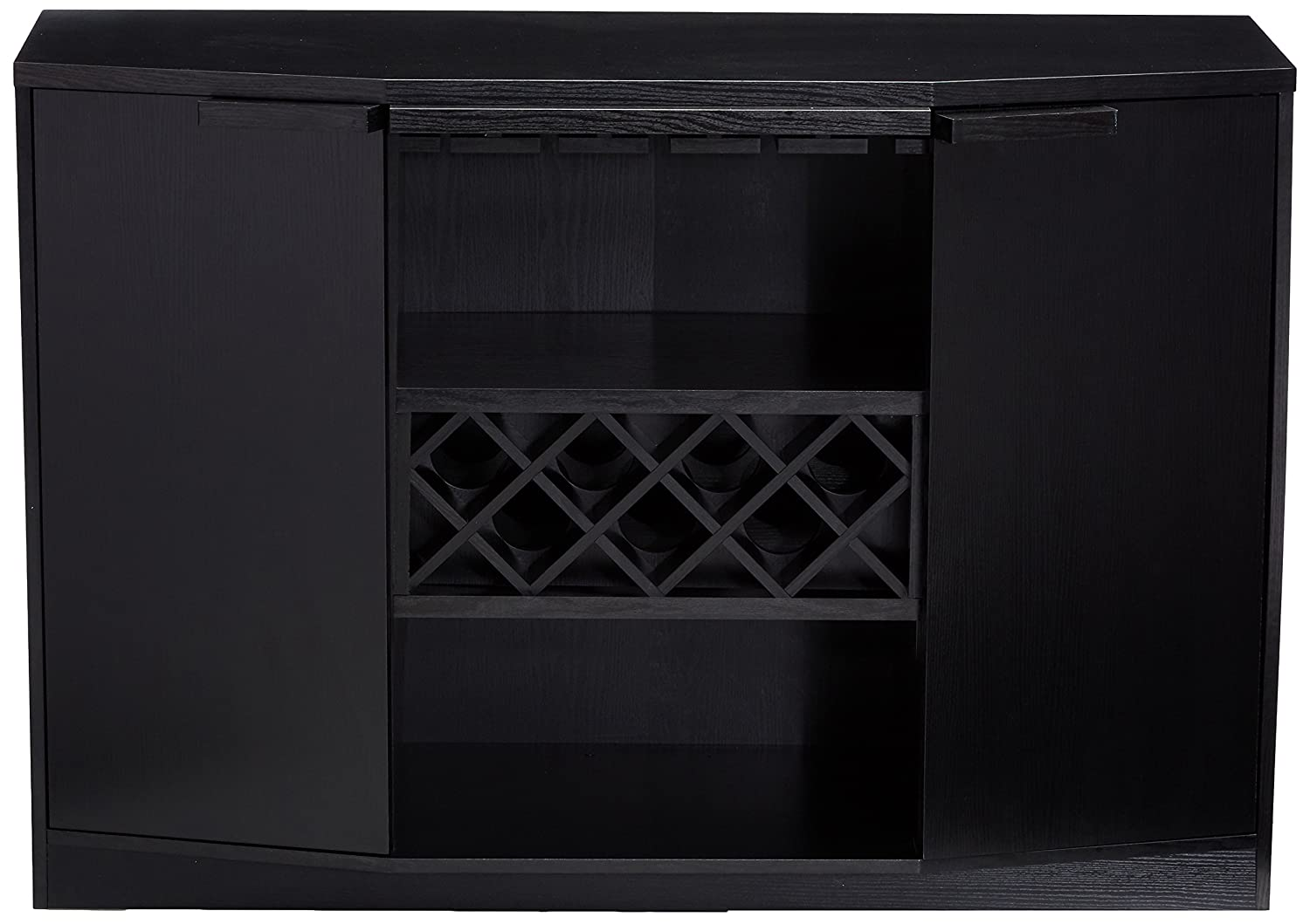 247SHOPATHOME YNJ-1445-1 Wine-cabinets Black