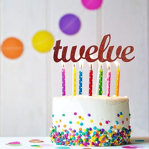 Amazon.com twelve Cake Topper, 12th Birthday Cake Topper